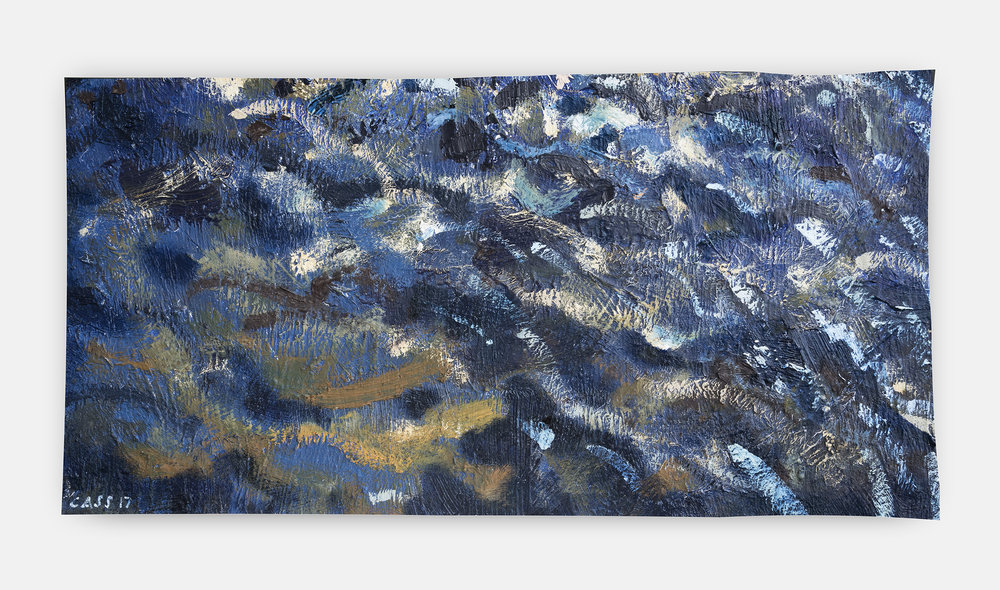 vi • Lagoon Surface Fragment • 2011 — 2017 75cm x 40cm approx / Oil £PoA (info on request)