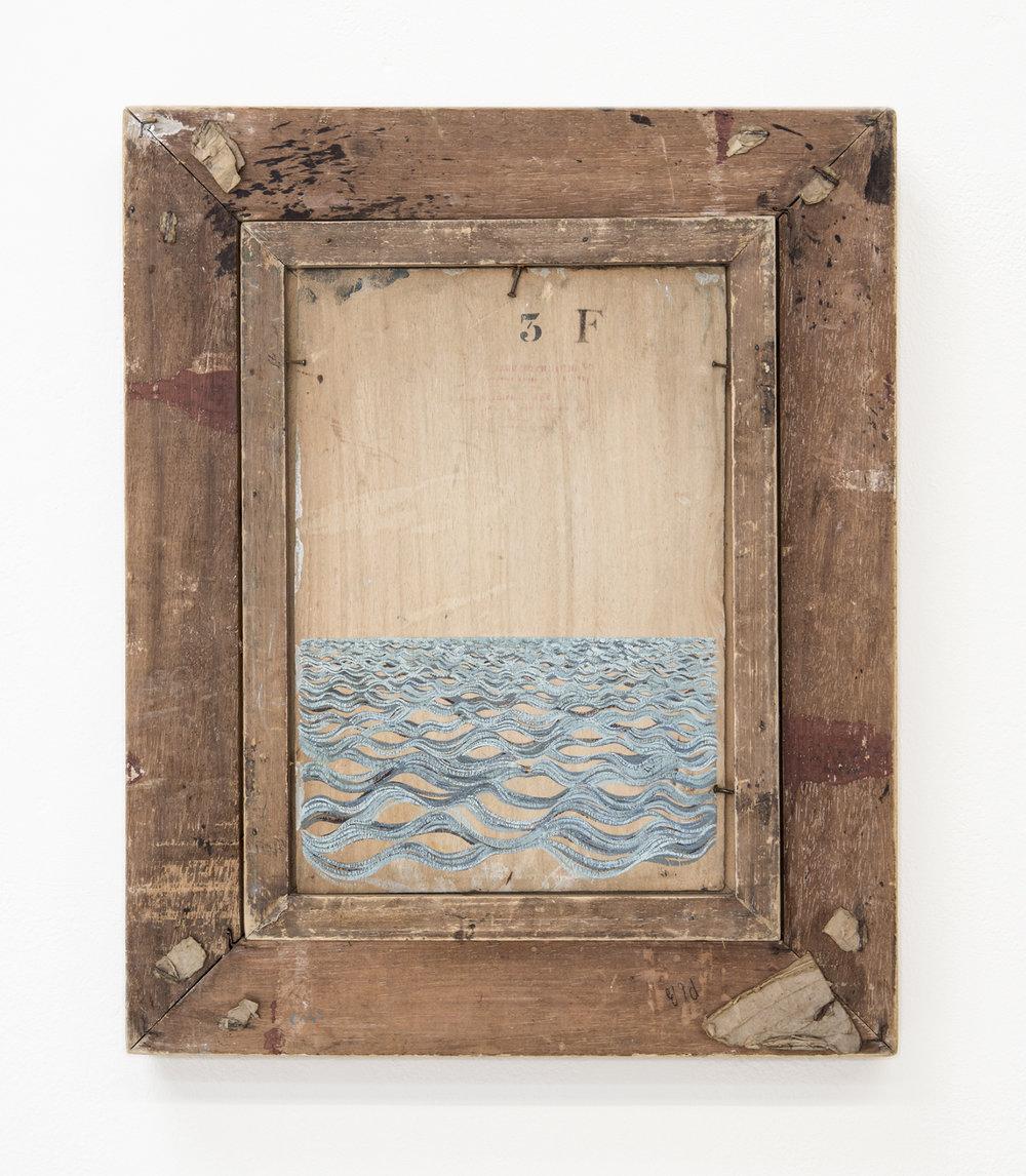 3F  2013 · 40 x 50 cm · Gouache on framed painting (verso)