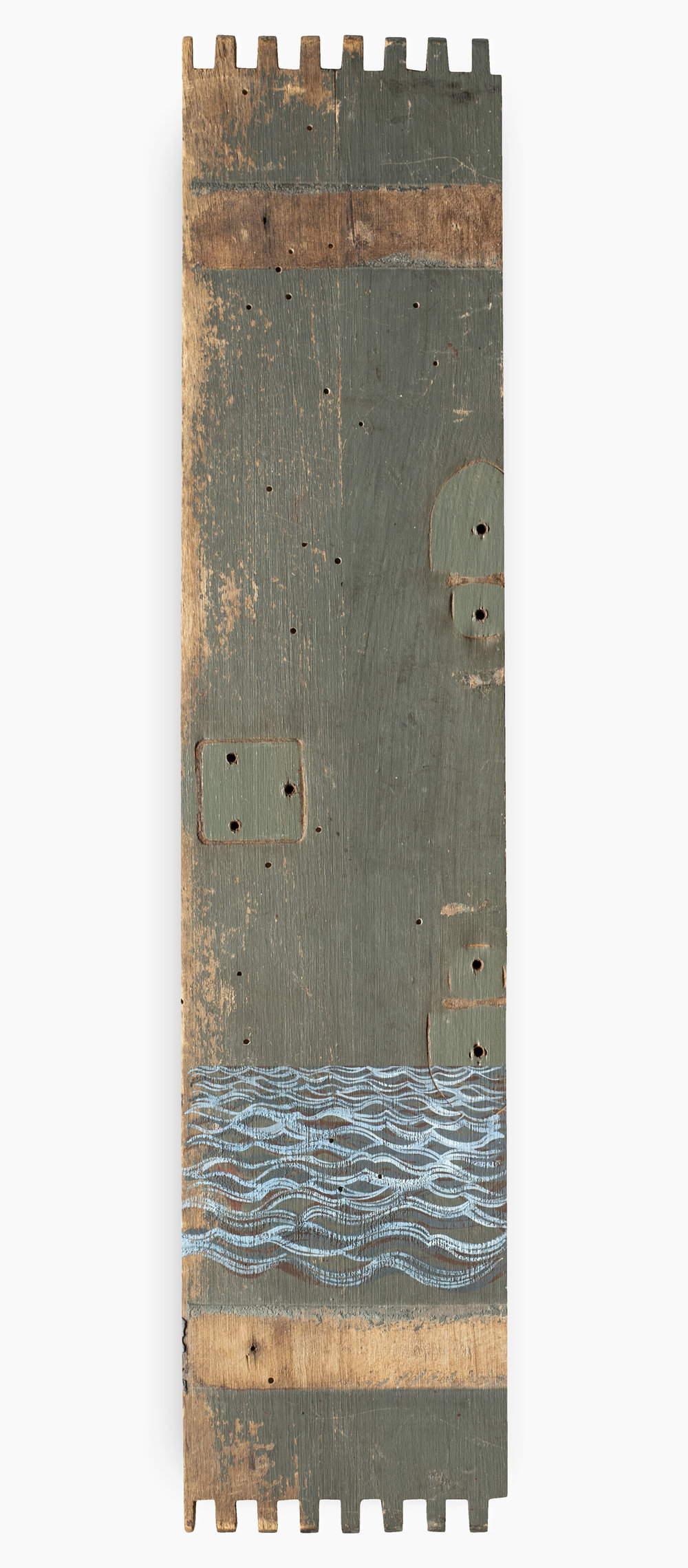 Spine  2018 9 x 42 cm · Gouache on off-cut (treated)
