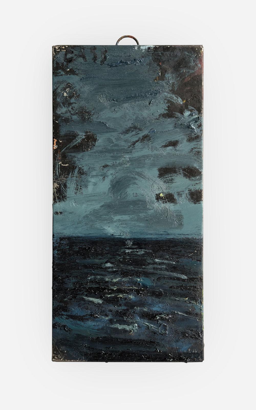 37%  2018 Oil on artist's box · 25 x 12 cm (framed) · Sold