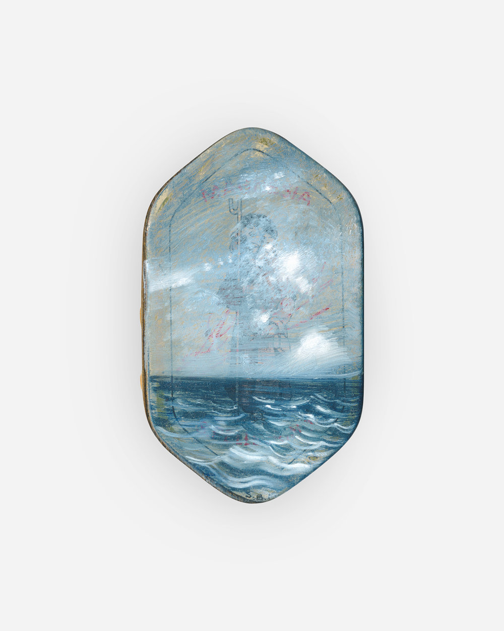 33%  2017 Oil on hydrating magnesium tin · 6 x 4 cm (framed) · Email for info