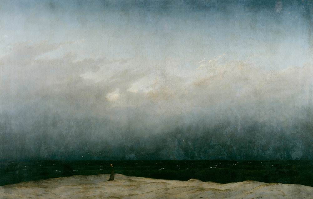 Caspar David Friedrich,  The Monk by the Sea  (1808-1810)
