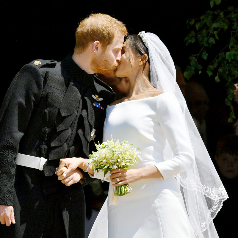 Harry and Meghan Kiss image by US Weekly