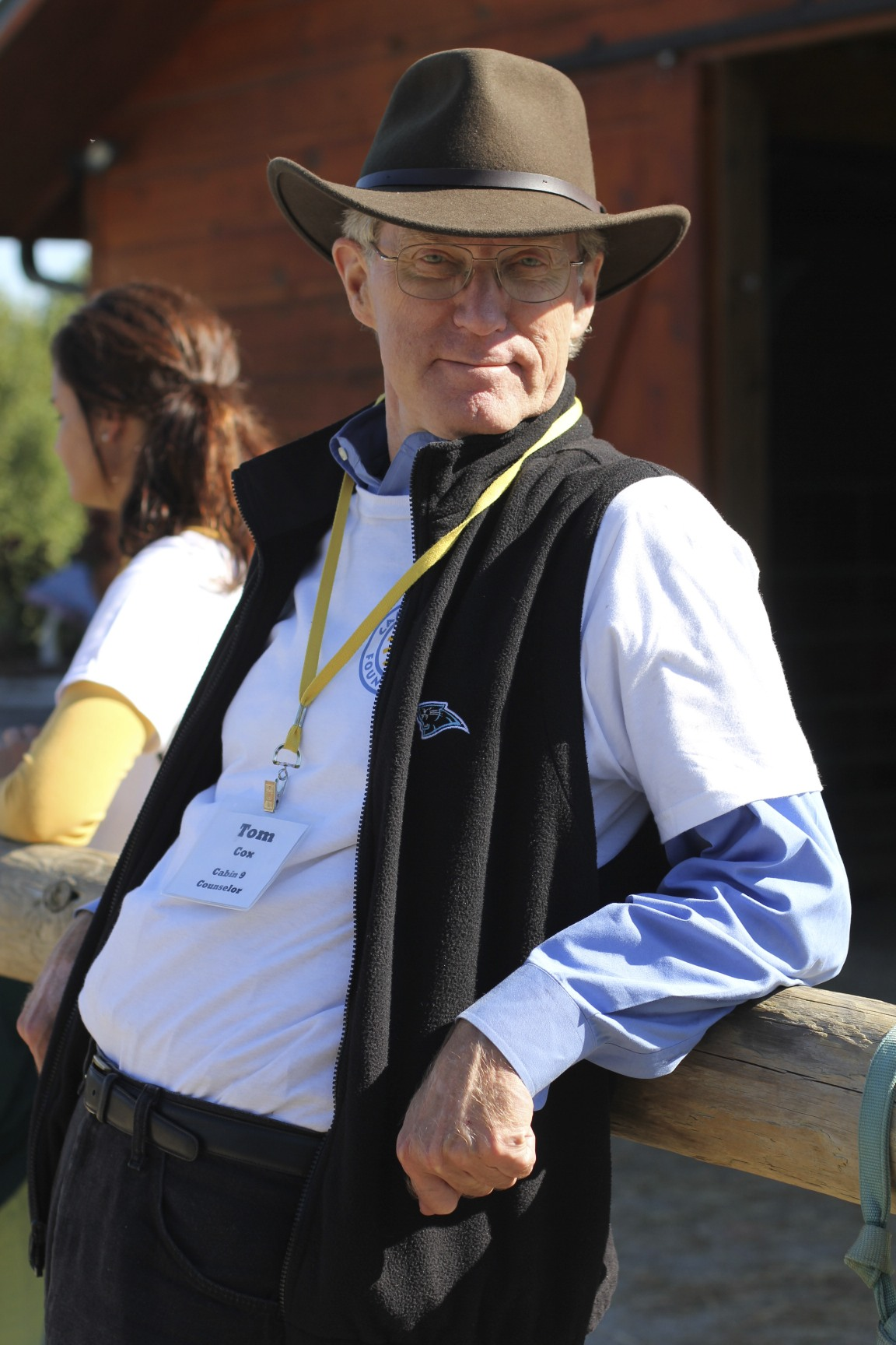 Tom Cox Camp Blue Skies volunteer
