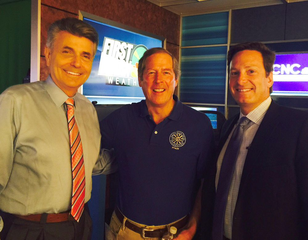 Larry Sprinkle of NBC Charlotte, Dick Sesler, Camp Blue Skies, Dr. Peter Cox, Dynamic Health & Pain Management