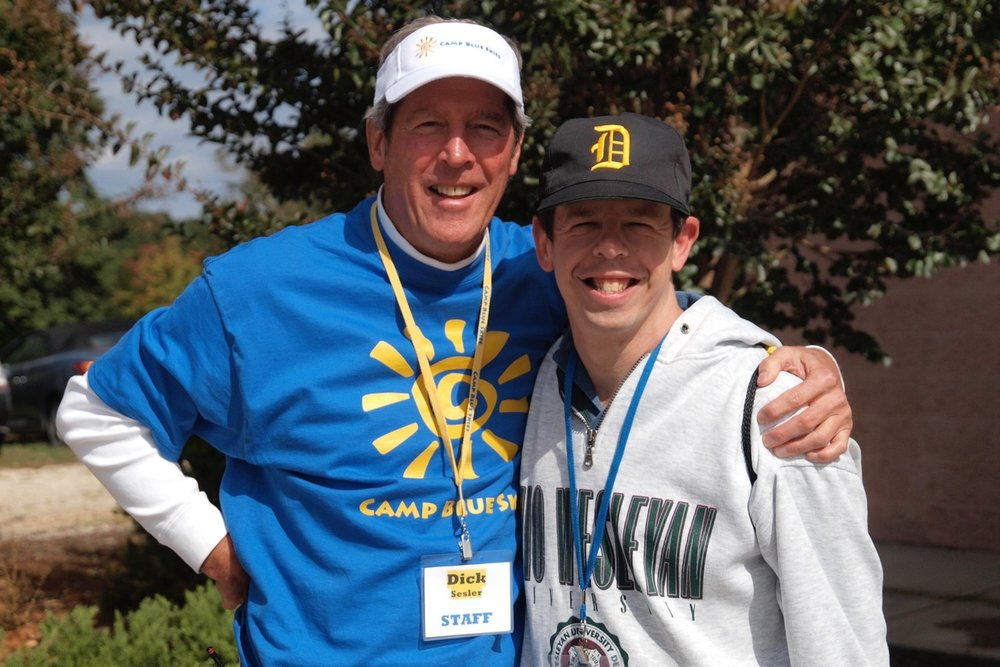 Founder Dick Sesler and his son, Brent, who was the inspiration for Camp Blue Skies.
