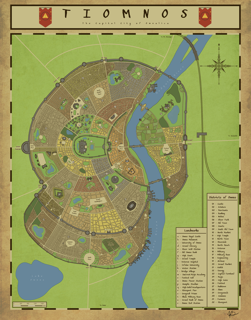 Map of Tiomnos