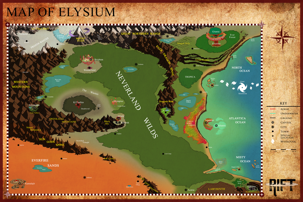 RIFT - World Map of Elysium