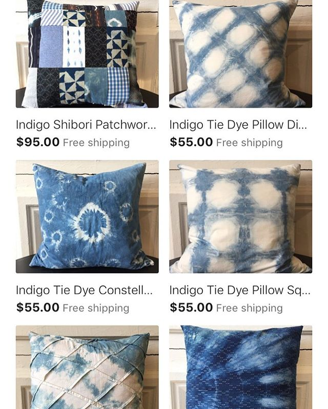 New items listed on my etsy! Link in bio 💙 . . . #onyxmatter #backtothecraft #catherineruhl #handdyed #shibori #indigo #indigotiedye #etsysellersofinstagram #etsy #etsyshop #handmade #madeinusa🇺🇸