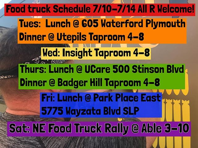 Did you have a good holiday? We missed you! Come get your paninis sometime this week at one of these fabulous locations!