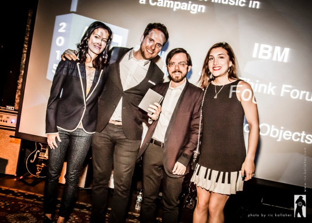 Rani Vaz, BBDO's Head of Music with Campaign winners from Found Objects.