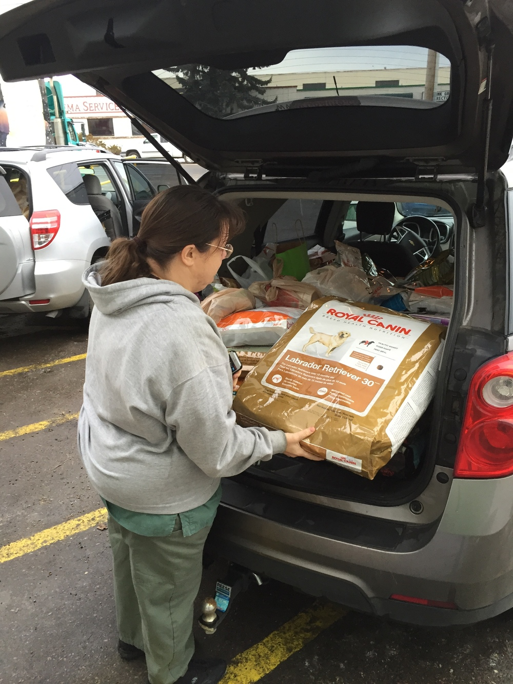 Delivering over 500 lbs of pet food to the Edmonton Food Bank