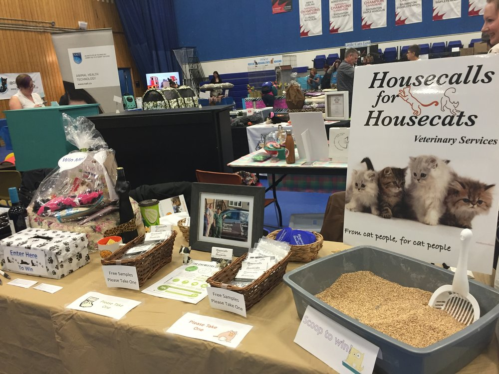 Our fun and engaging booth at the International Cat Festival.  Where else can you scoop the litterbox and win prizes?