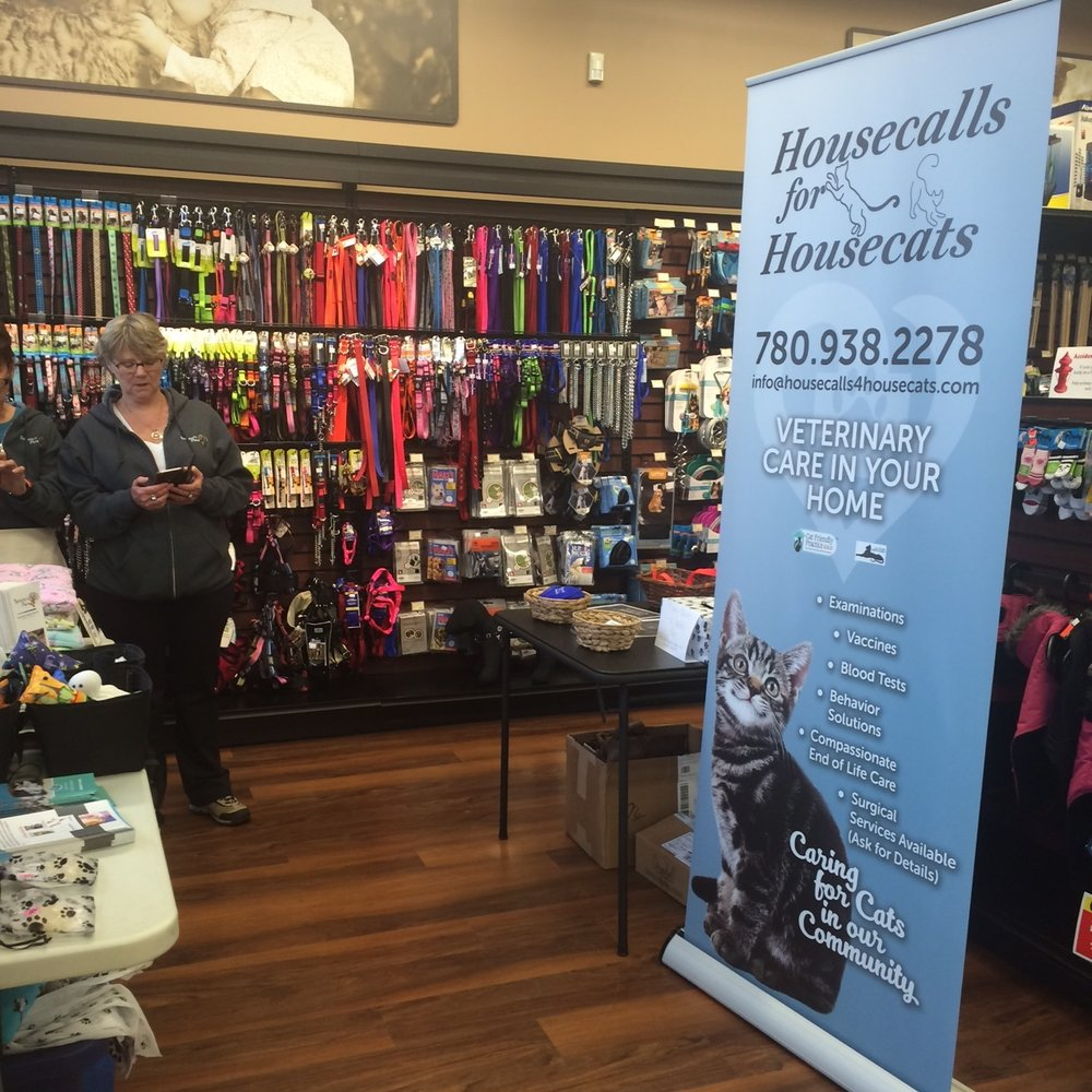 We supported Berkeley's Place and National Adoption Day raising awareness for homeless cats in the Edmonton Area