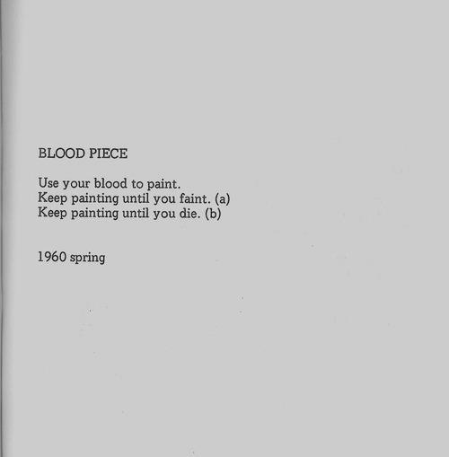 Yoko Ono -Blood Piece