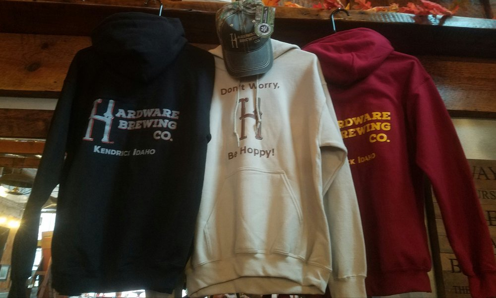 Hardware Brewing Co. Hoodies Available in Sand, Red and Black.   M-XL             $49                    2X $51