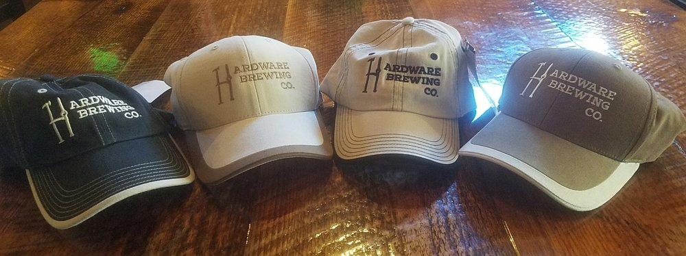 Hardware Brewing Co. Hats. Available in multiple colors! They have Kendrick ID on the back and an American Flag on the side. Adjustable fit.  $20