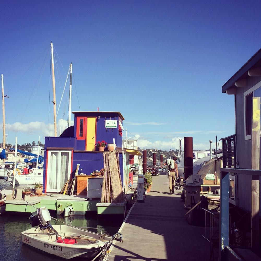 Napa St. Galilee Sausalito Houseboat docks