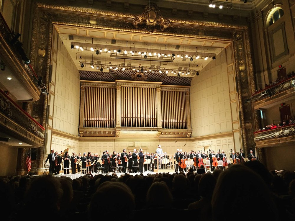 Premiere with Andris Nelsons and the Boston Symphony Orchestra (Nov. 2016). Photo by Luyuan Nathan