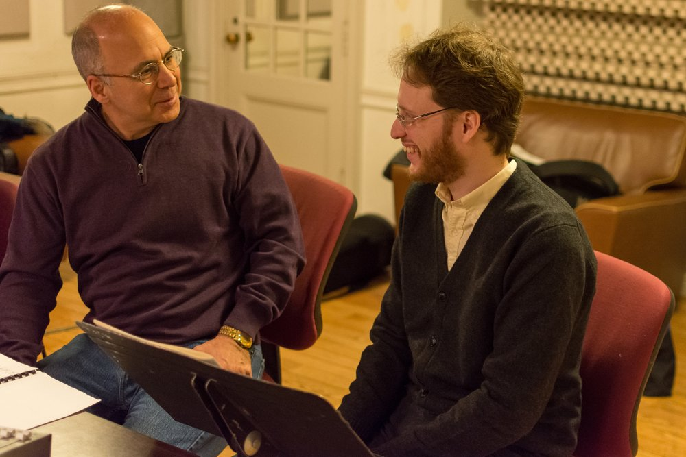 With Joseph Alessi at the recording session (Photo credit: John Whitaker Photography)