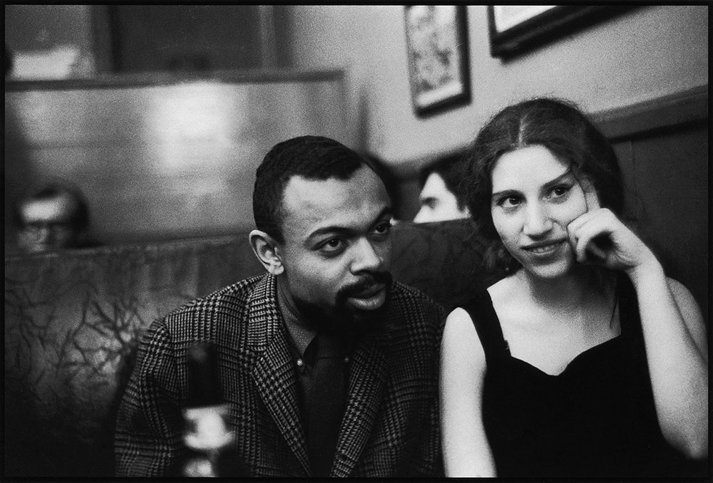 Diane DiPrima with Amiri Baraka,at the Cedar Tavern, April 5, 1960. Photo by Fred W. McDarrah/Getty Images