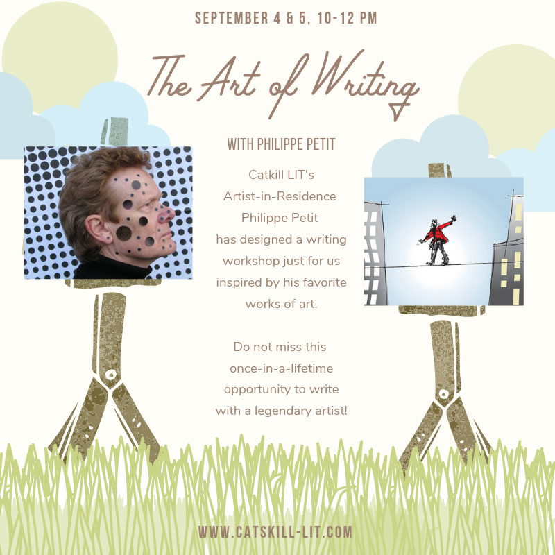 Art Write with Philippe Petit — The Poetry Barn