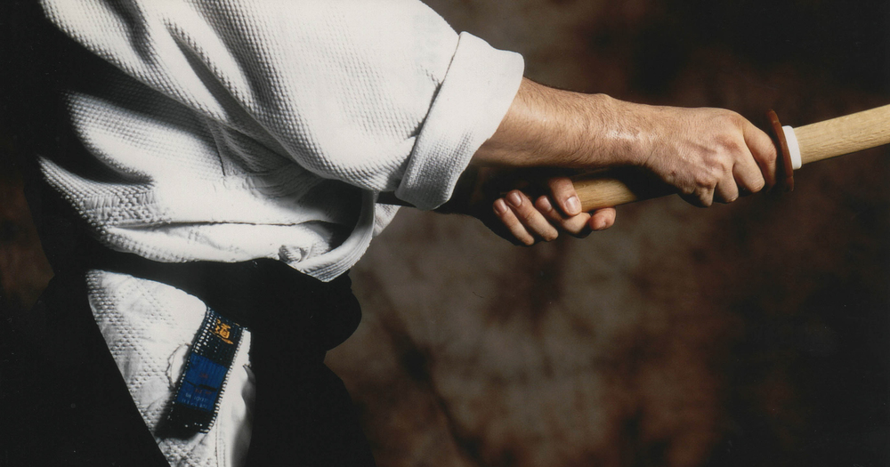 Il bokken (spada di legno), una delle armi utilizzate per l'allenamento (foto di Andrea Angelucci)