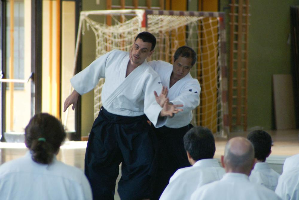 Fujimoto Yoji Shihan uke Roberto Travaglini   (foto di Dagmar Ebner)