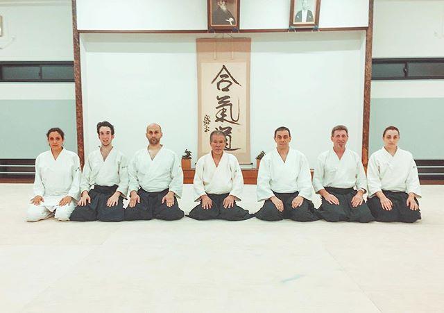 Gruppo con Miyamoto Shihan al termine di una sua classe all'Hombu!