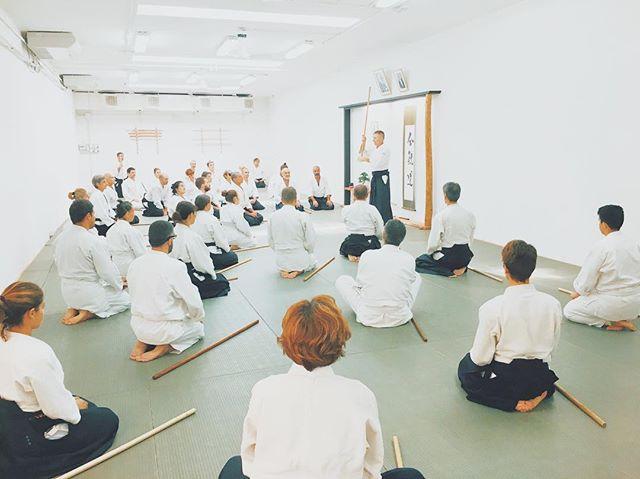 Lezione di jō al seminario di questa domenica.