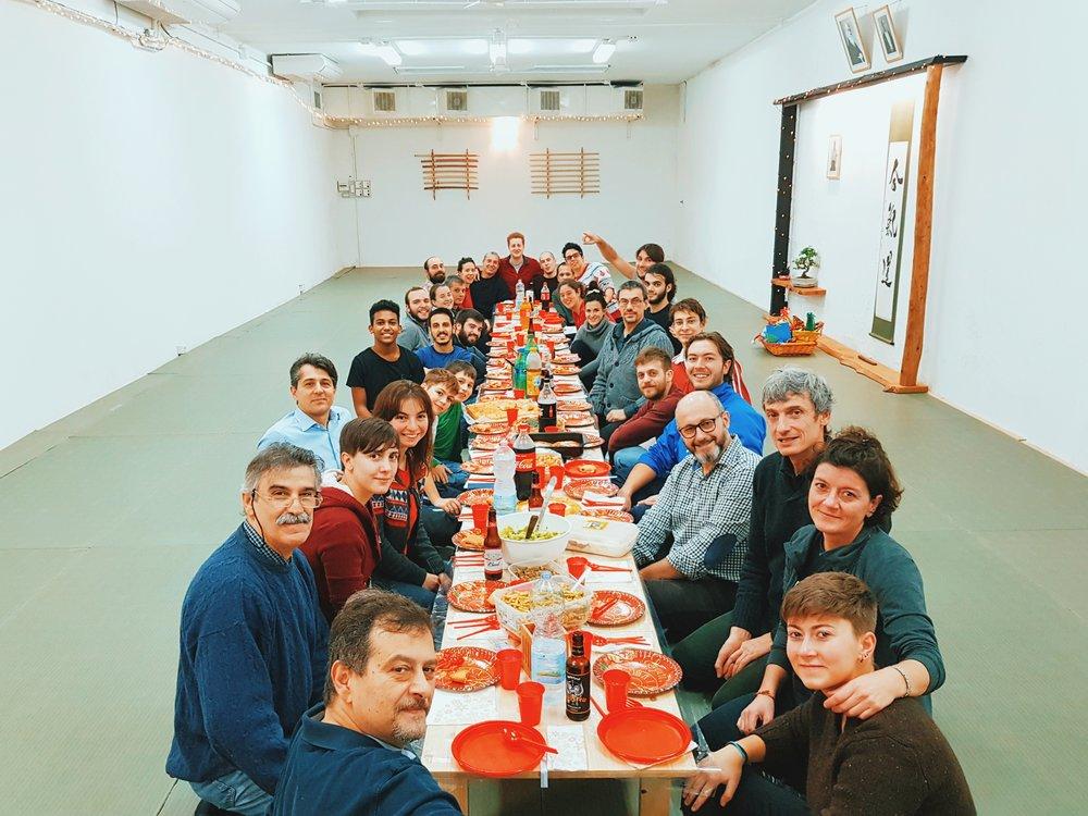 cena-natale-aikido-bologna-fujinami