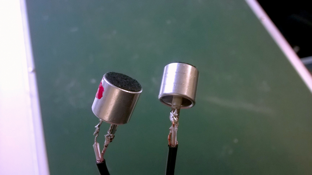 Stereo mic from electret condensers