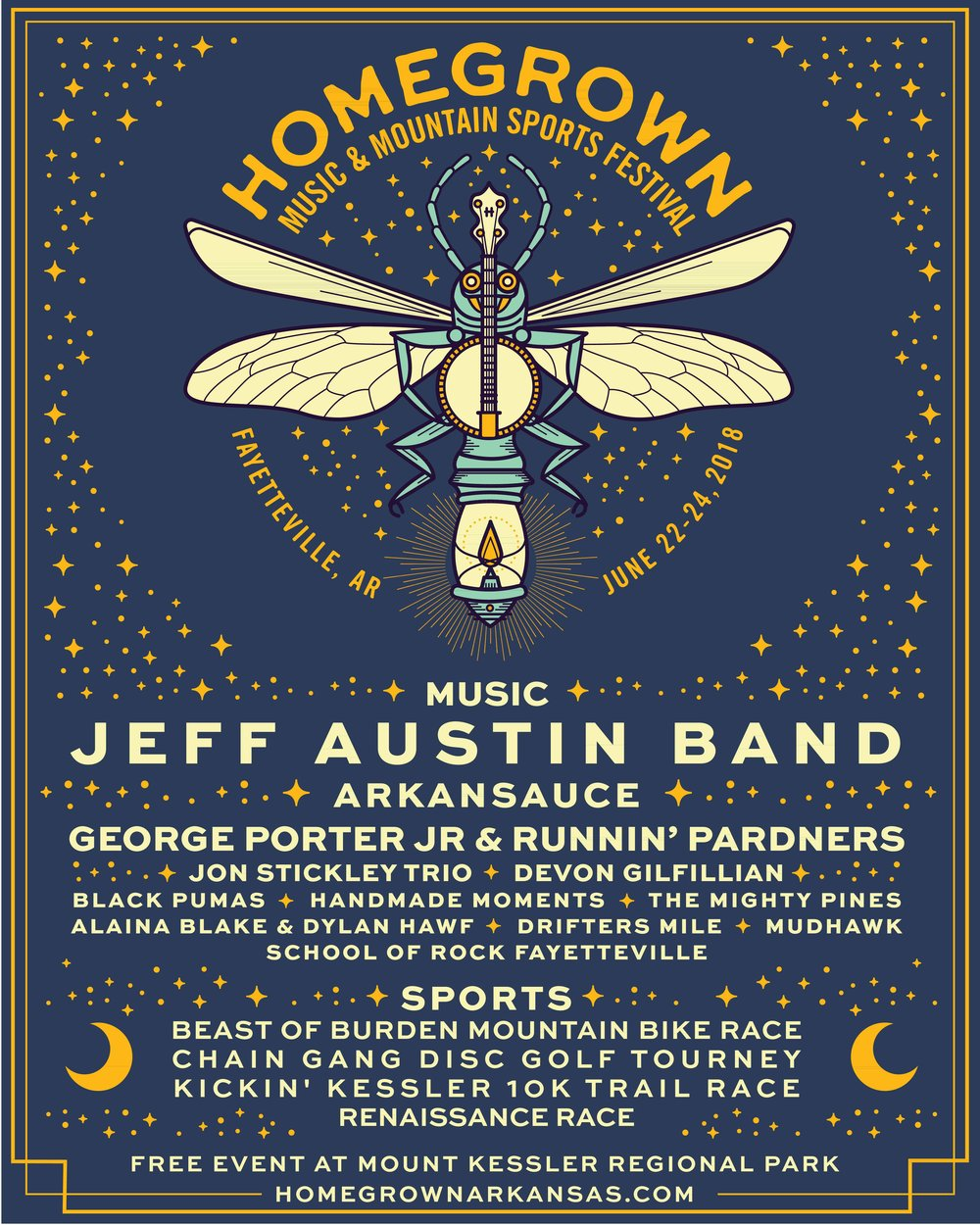 Homegrown Music & Mountain Sports Festival Lineup 2018