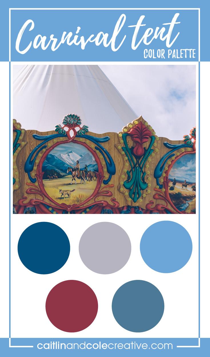color palette carnival tent caitlin cole creative llc