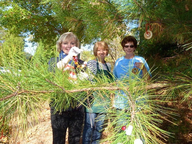 Spalding members help the villagers hang the ornaments outside to bring the joy of bird watching to an underserved population.
