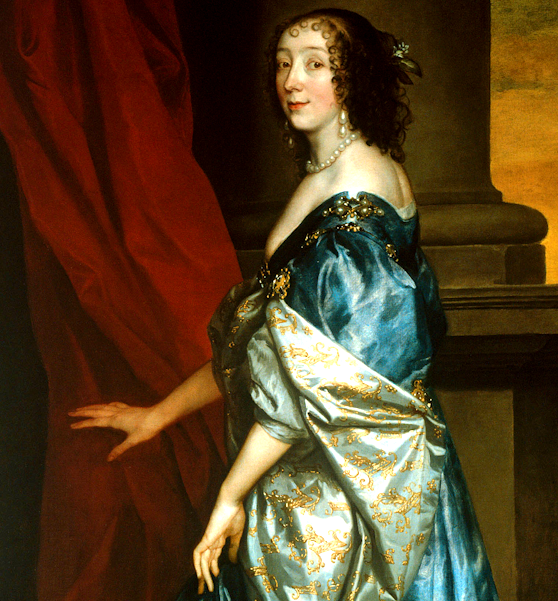 A little come-hither from lucy hay, the countess of carlisle, painted by Anthony van dyck
