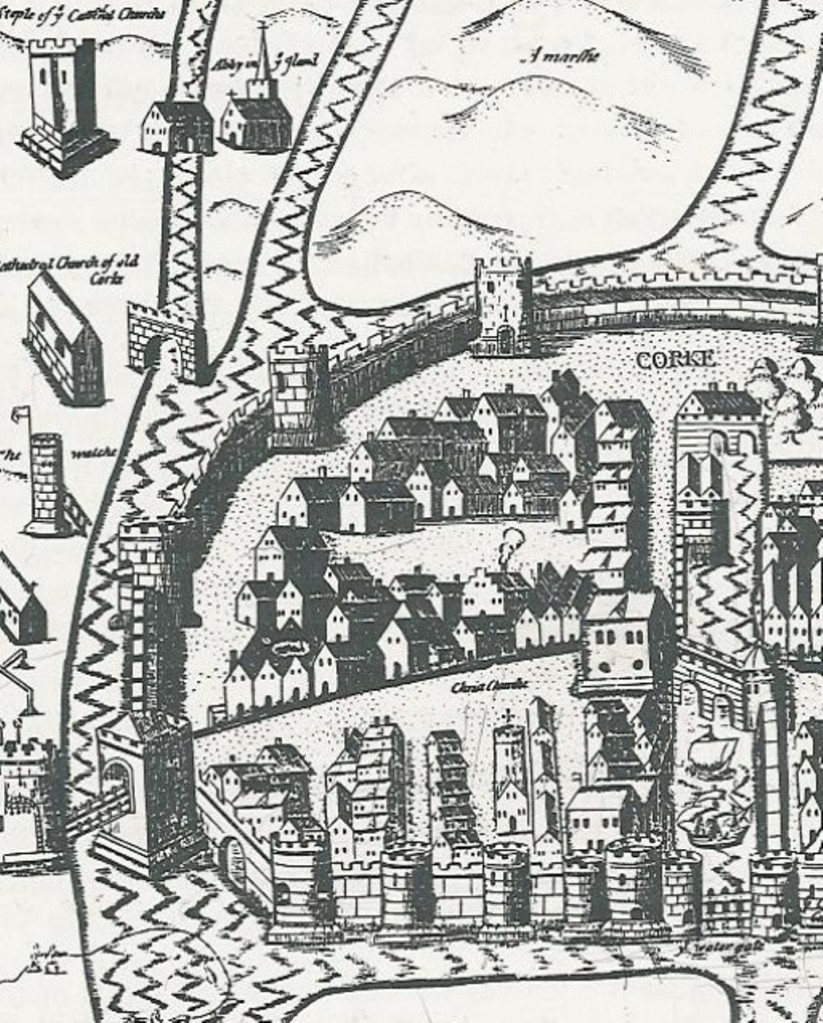 Image of a walled town from the Cork City Library