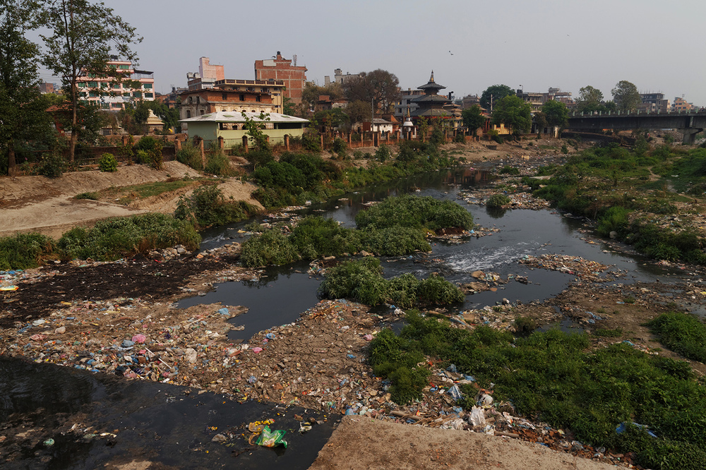 Fred K - Nepal - Pollution in a river from Kathmandu.jpg