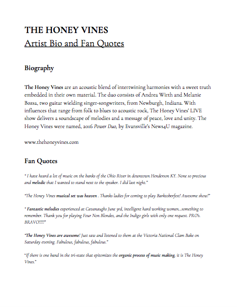Bio and Fan Quotes - Includes biography and fan quotes. Click on document to view at full resolution.