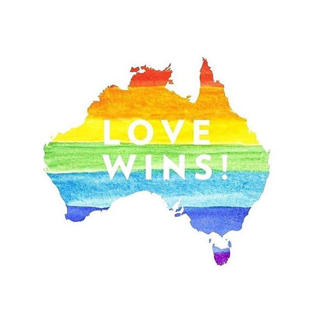 It's about time Australia.. love over everything! 🌈❤️💜💙💚💛🧡❤️🌈