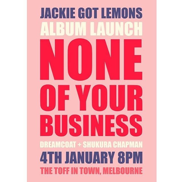 First gig of 2018 opening for @jackiegotlemons with @dreamcoatmusic... can't wait! 🎉 Ticket link in bio 👆🏽