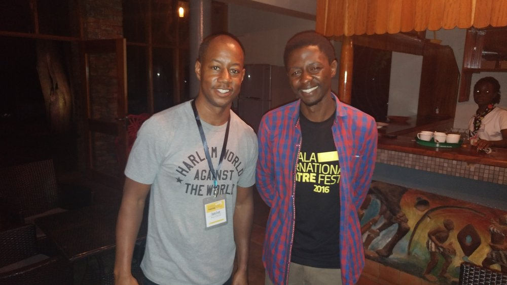 With brilliant Ugandan poet Peter Kagayi