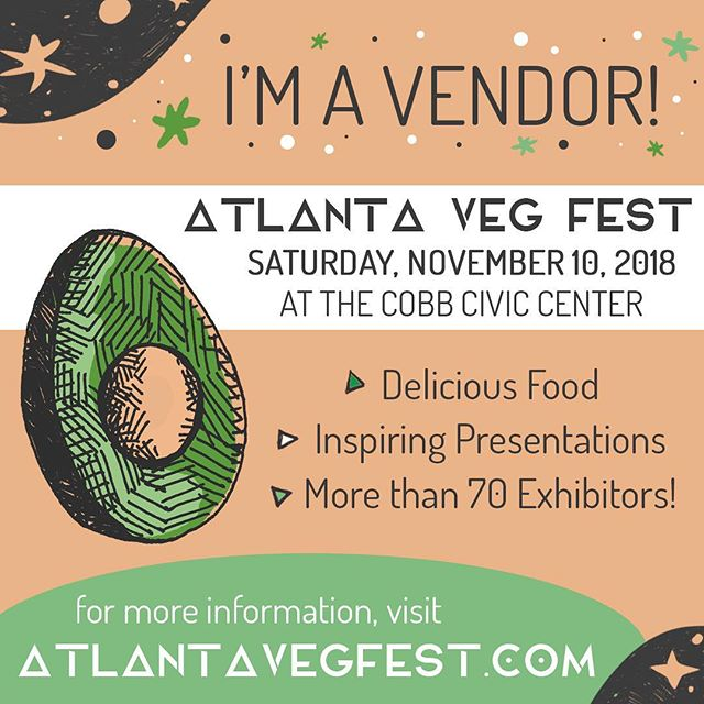 Can you believe it?! 😱 @atlantavegfest is just 2 days away! Fill your bellies with some of the tastiest vegan food, shop from tons of vendors, listen to some inspiring presentations, PLUS come see us! Doors open at 10 am. Hope to see our friends there! 😘 . . . #vegansofatlanta #vegansofatl #atlvegan #plantbased #atlantavegfest #cobbcounty #crueltyfree #vegan #veganlifestyle #festival