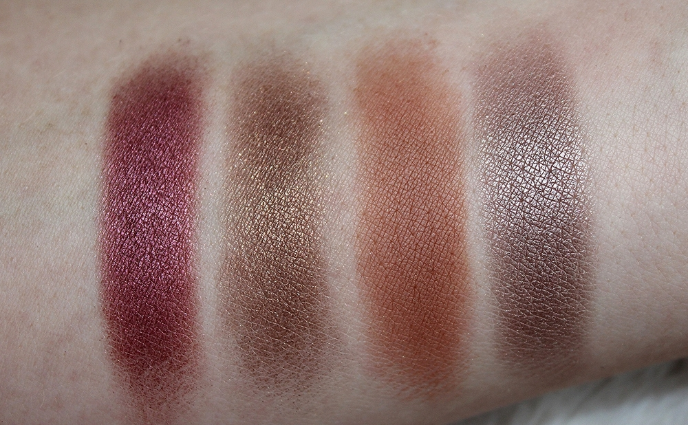 MAC quad fall colors swatches