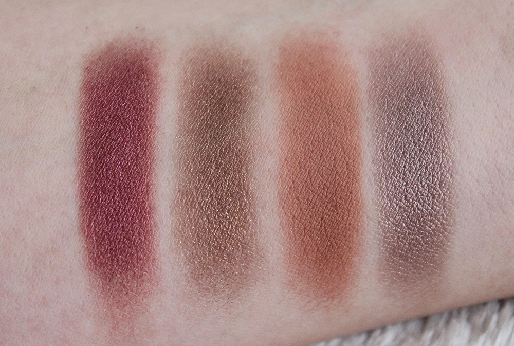 MAC quad fall eyeshadow colors swatches