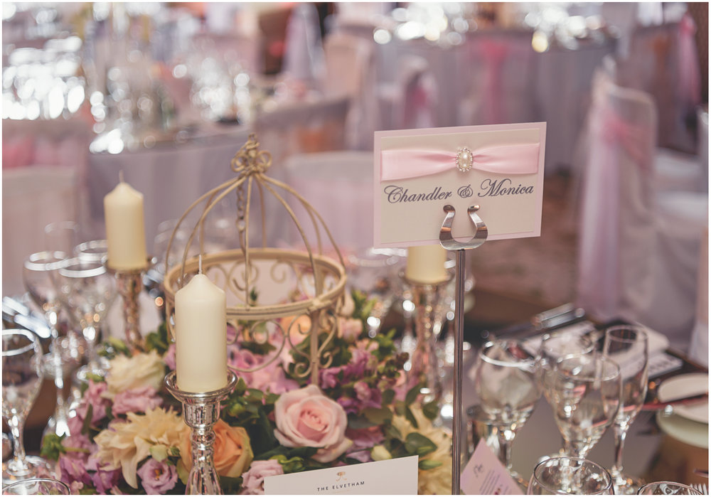 Friends themed wedding table at The Elvetham
