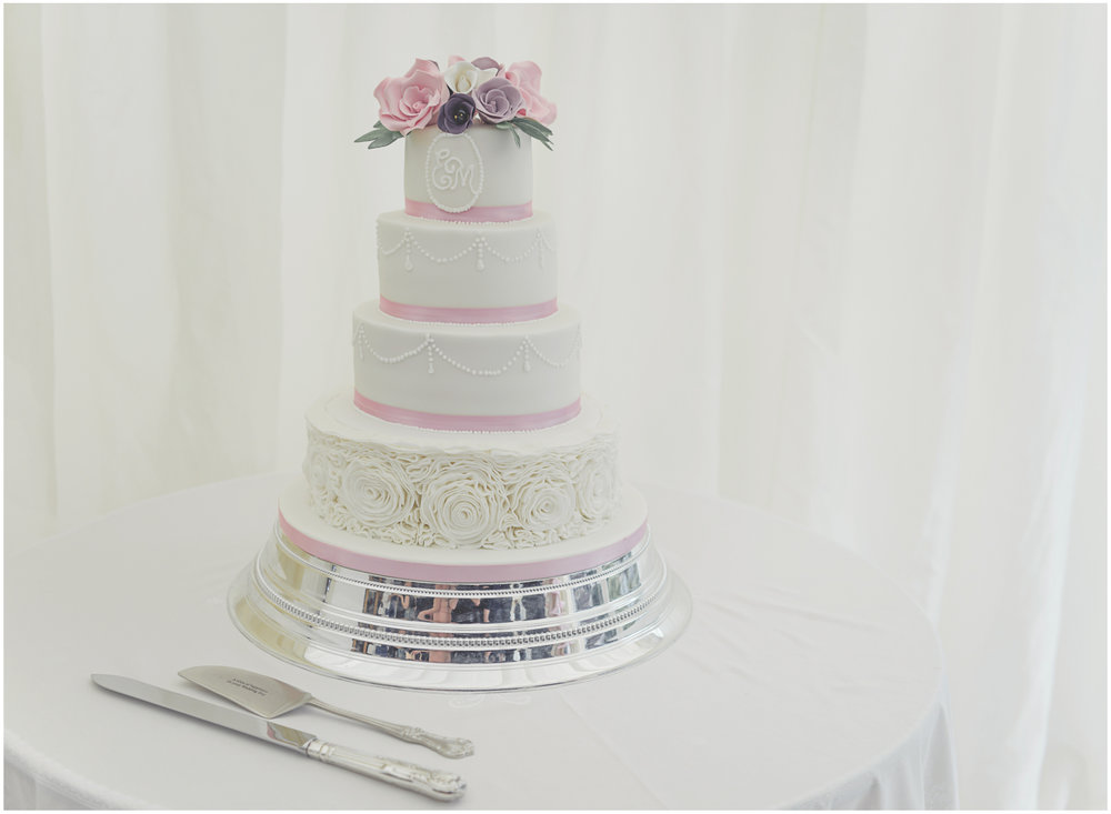 Stunning four tier wedding cake by The Looby Lu Cake Company