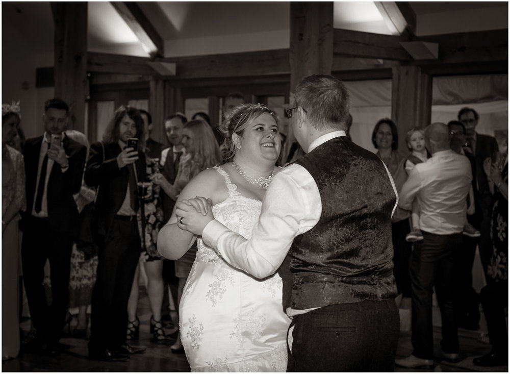 A first dance at a Sulgrave Manor wedding