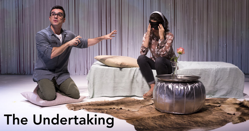 Dan Domingues and Irene Lucio in The Undertaking. Photo by Richard Termine.