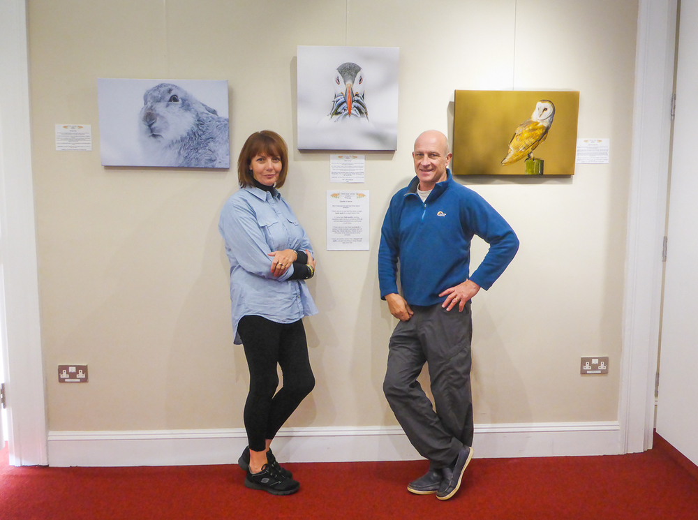 Tony & Carol at our exhibition at The Witham in Barnard Castle